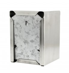 "Napkin Stainless Steel Dispenser ""MiniServis"" 17x17 (12 Units)"