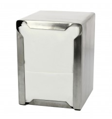 "Napkin Stainless Steel Dispenser ""Miniservis"" 17x17 (1 Unit)"