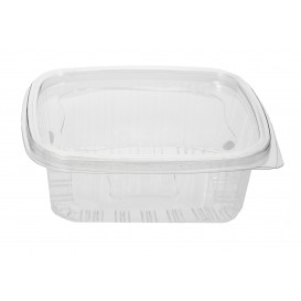 Plastic Hinged Deli Container PET 370ml (80 Units)