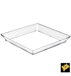 Tasting Tray PS Medium size Clear 13x13 cm (12 Units)