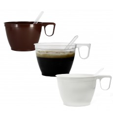 Plastic Cup Brown 180ml