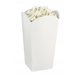 Paper Popcorn Box Small Size White 45gr 6,5x8,5x15cm (700 Units)