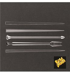"Plastic Food Pick ""Snack Stick"" Clear 9cm (1650 Units)"
