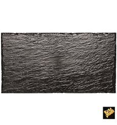 Plastic Tasting Platter Synthetic Slate PS 30x15,8cm (10 Units)