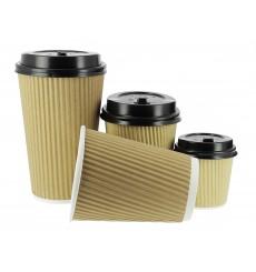 "Paper Cup ""Ripple Kraft"" Brown 8 Oz/250ml Ø8cm (25 Units)"