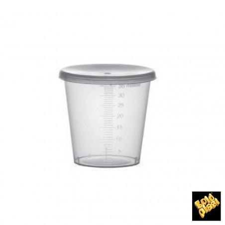 Tapa para Vaso Graduado PP Transp. 35ml Ø4,5 (2000 Uds)