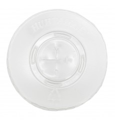 Plastic Lid with Straw Slot PET Crystal Flat Ø8,1cm (2000 Units)