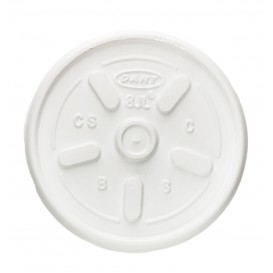 Plastic Lid PS Ø8,1cm for Foam Cup (1000 Units)