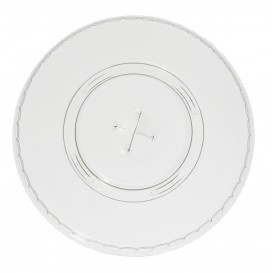 Plastic Lid with Straw Slot PET Flat Ø9,8cm (100 Units)