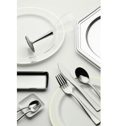 Plastic Charger Plate PET Octogonal shape Silver 30 cm (5 Units)