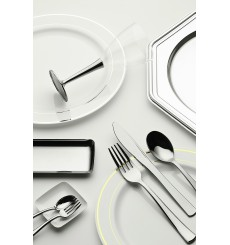 Plastic Charger Plate PET Octogonal shape Silver 30 cm (50 Units)