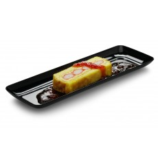 Plastic Tray Rectangular Shape Hard Black 17x45cm (5 Units)