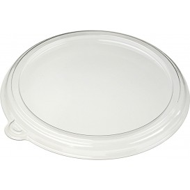 Plastic Lid Flat PET Crystal Ø21cm (25 Units)