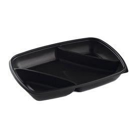 Plastic Deli Container PP 3C Black 975ml 28x20x4cm (50 Units)