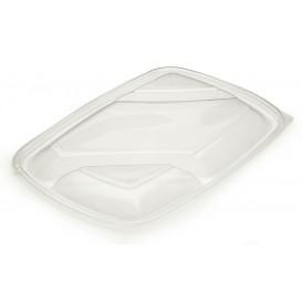 Plastic Lid for Deli Container PP Rectangular shape 3C Black 28x20cm (50 Units)