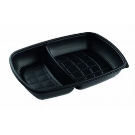 Plastic Deli Container PP 2C Black 1300ml 28x20x4cm (50 Units)