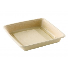 Sugarcane Container 1400ml 23x23x4cm (75 Units)