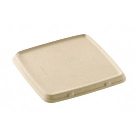 Sugarcane Lid for Container 23x23cm (75 Units)
