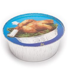 Paper Lid for Foil Pan Round Shape 935 and 1450ml (125 Units)