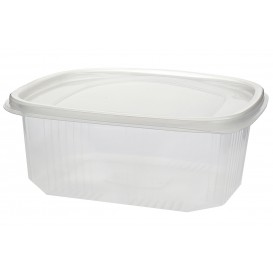 Plastic Hinged Deli Container Microwavable PP 1500ml (25 Units)