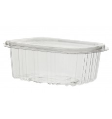 Plastic Hinged Deli Container OPS 500 ml (60 Units)