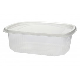 Plastic Hinged Deli Container Microwavable PP 500ml (50 Units)