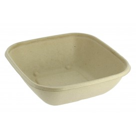 Sugarcane Bowl Natural Square Shape 2250ml 27cm(300 Units)