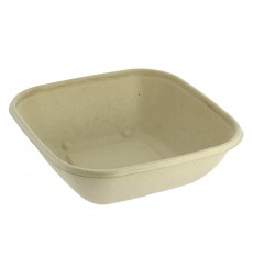 Sugarcane Bowl Natural Square Shape 2250ml 27cm