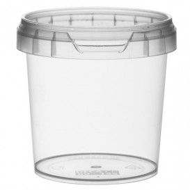 Plastic Deli Container with Plastic Lid PP Tamper-Evident 155 ml Ø6,9 (24 Units)