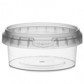 Plastic Deli Container with Plastic Lid PP Tamper-Evident 180 ml Ø9,5 (12 Units)