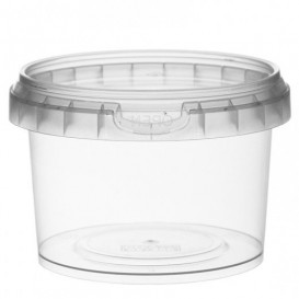 Plastic Deli Container with Plastic Lid PP Tamper-Evident 280 ml Ø9,5 (25 Units)