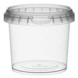 Plastic Deli Container with Plastic Lid PP Tamper-Evident 365 ml Ø9,5 (456 Units)