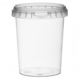Plastic Deli Container with Plastic Lid PP Tamper-Evident 520 ml Ø9,5 (380 Units)