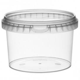Plastic Deli Container with Plastic Lid PP Tamper-Evident 565 ml Ø11,8 (22 Units)