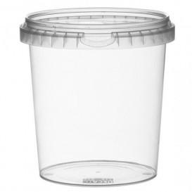Plastic Deli Container with Plastic Lid PP Tamper-Evident 870 ml Ø11,8 (19 Units)