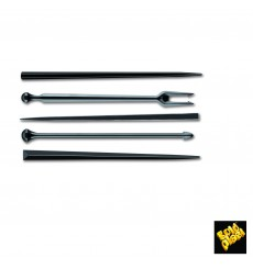 "Plastic Food Pick ""Snack Stick"" Black 9cm (6600 Units)"
