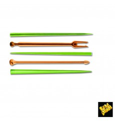 "Plastic Food Pick ""Snack Stick"" Multicolour 9cm (1650 Units)"
