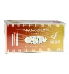 Palillos de Madera Redondo 2 Puntas Enfundado 65mm (5 Uds)