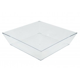 Plastic Tray Clear 25x25cm (30 Uds)
