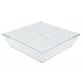 Plastic dienblad transparant 25x25cm (1 eenheid)