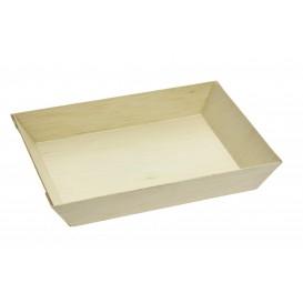 Wooden Tray 15,5x8,5x2,8cm 250ml (100 Units)