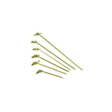 Pinchos de Bambu Decorados Lazo 180mm (100 Uds)