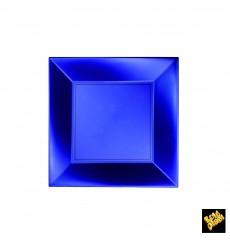 "Plastic Plate Flat Blue ""Nice"" Pearl PP 18 cm (25 Units)"