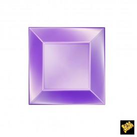 "Plastic Plate Flat Violet ""Nice"" Pearl PP 18 cm (25 Units)"