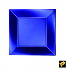 "Plastic Plate Flat Blue ""Nice"" Pearl PP 23 cm(300 Units)"