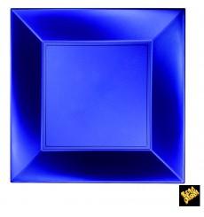 "Plastic Plate Flat Blue ""Nice"" Pearl PP 29 cm (12 Units)"