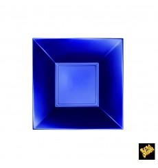"Plastic Plate Deep Blue ""Nice"" Pearl PP 18 cm (25 Units)"