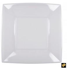 "Plastic Plate Flat Clear ""Nice"" PS 29 cm (12 Units)"