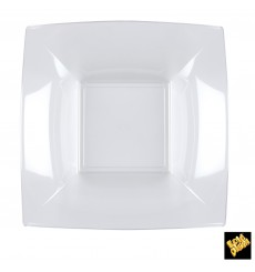"Plastic Plate Deep Clear ""Nice"" PS 18 cm (300 Units)"