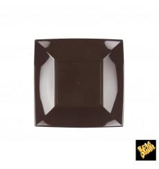 "Plastic Plate Flat Brown ""Nice"" PP 18 cm (300 Units)"